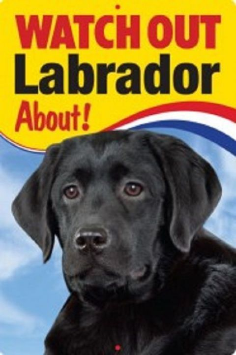 BLACK LABRADOR  3D  DOG SIGN